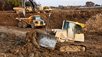 Earth Moving Equipment at Job Site
