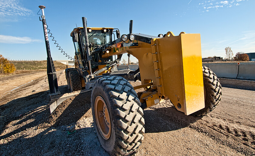 Construction equipment onsite