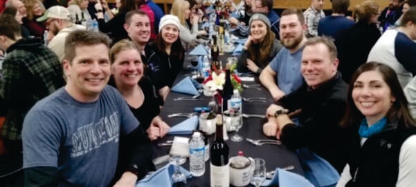 Group Shot of InSite Staff at Mercy Flight Nordic Sip N Ski